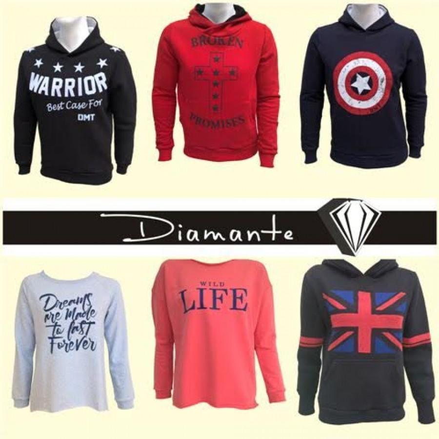 0f7bc389cd8 Μεγάλη ποικιλία σε γυναικεία και ανδρικά φούτερ στα καταστήματα Diamante
