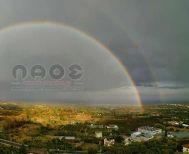 Εντυπωσιακό «διπλό» ουράνιο τόξο ορατό  σε Ημαθία και Πέλλα