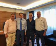 Ο Λάζαρος Τσαβδαρίδης στον νέο Υφυπουργό Αγροτικής Ανάπτυξης κ. Κώστα Σκρέκα για τα θέματα του ΤΟΕΒ της Νάουσας