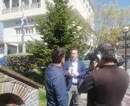 Τηλεοπτικό συνεργείο της ΕΡΤ3 στη Νάουσα για το συσσίτιο και τα μέτρα κοινωνικής στήριξης του Δήμου