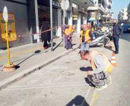 Τελικά κίτρινες διαγραμμίσεις στους χώρους στάθμευσης δικύκλων στο κέντρο της Βέροιας