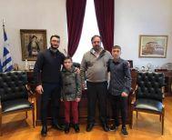 Βράβευση αθλητών του Α.Σ. Ρωμιός από τον Δήμαρχο Βέροιας κ. Βοργιαζίδη
