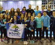 Χειμερινοί Κολυμβητικοί αγώνες κατηγοριών Β. Ελλάδας.Πολλά μετάλλια για την Κολυμβητική Ακαδημία