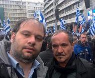 Τα δακρυγόνα και ο εμπρησμός στο αυτοκίνητο του δημάρχου Νάουσας Ν. Κουτσογιάννη στο συλλαλητήριο της Αθήνας