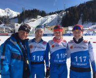 Μαρία Ντάνου, Γεωργία Νιμπίτη, Στελλίνα Γιαννακοβίτη στο Παγκόσμιο Πρωτάθλημα Seefeld Αυστρία 2019
