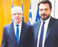 Επαφή Τάσου Μπαρτζώκα με τον προέδρο του ΕΛΓΑ Α. Λυκουρέντζου για το «μπλοκάρισμα» των αποζημιώσεων της Μελίκης