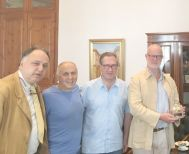 Συνάντηση του Δημάρχου Βέροιας με τον Κόμη του Σαιντ Άντριους και το Γ.Γ. της Οικουμενικής Ομοσπονδίας Κωνσταντινουπολιτών