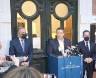 H ανασυγκρότηση της Αυτοδιοίκησης στο επίκεντρο της συνάντησης Τζιτζικώστα - Πέτσα, παρουσία Καλαφάτη