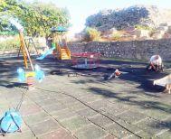 Εργασίες συντήρησης στην παιδική χαρά της Πλατείας Ωρολογίου