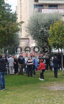 Βέροια: Η αστυνομία εμπόδισε πολίτες να ανοίξουν μεγάλη ελληνική σημαία την 28η Οκτωβρίου (Εικόνες - Βίντεο)