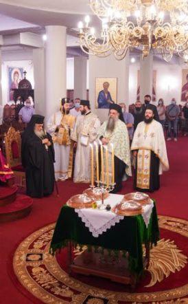 Πολυαρχιερατικός Εσπερινός επί τη εορτή του Αγίου Παντελεήμονας στην Ιερά Μονή Παναγίας Δοβρά Βέροιας
