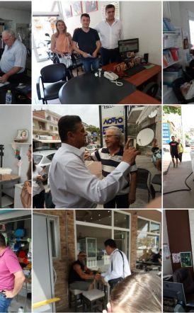 Ενθουσιώδη  υποδοχή στον Φώτη Κουτσουπιά στην οδό Πιερίων !!