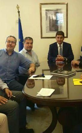 Συνάντηση υφυπουργού Αθλητισμού Λευτέρη Αυγενάκη με το Δ.Σ. των αθλητικών συντακτών