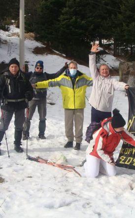 Κοπή βασιλόπιτας για τους Ορειβάτες Βέροιας στο  Xιονοδρομικό  κέντρο Σελίου