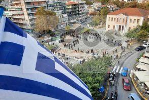 Βέροια: Η σημαία ψηλά στην Πλατεία Ωρολογίου