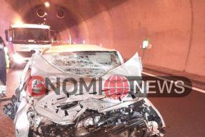 Τροχαίο ατύχημα μέσα σε τούνελ στην Εγνατία οδό Βέροιας - Κοζάνης (Εικόνες)