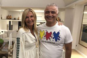 Στο δείπνο του Κυριάκου και της Μαρέβα, στην Κρήτη, ο Λάζαρος Τσαβδαρίδης