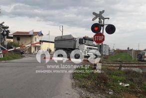 Οι μπάρες κατεβασμένες στην Μέση Βέροιας…  αλλά τρένο πουθενά!!!