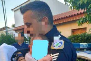 Έγκλημα στα Γλυκά Νερά: Η τρυφερή εικόνα αστυνομικού με το μωρό της Καρολάιν