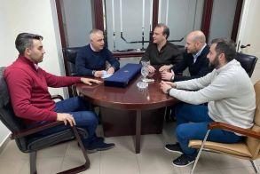 Συνάντηση του Λάζαρου Τσαβδαρίδη με το Δ.Σ. της Ένωσης Αξιωματικών Ελληνικής Αστυνομίας Κεντρικής Μακεδονίας
