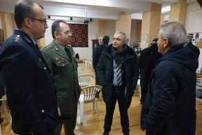 Ο Λάζαρος Τσαβδαρίδης στο Γηροκομείο και στη Θρακική Εστία της Βέροιας