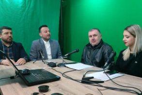 O πρόεδρος και ο γεν. αρχηγός του Α.Π.Σ Φίλιππος Βέροιας Volleyball στην εκπομπή «Sport Time» του Avena FM 97.7