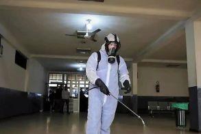 Απολύμανση των Δημοτικών Κτιρίων πραγματοποίησε εξωτερικό συνεργείο στο Δήμο Αλεξάνδρειας