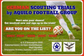 Δοκιμαστικά στις εγκαταστάσεις του Αστέρα Αλεξάνδρειας( Νησί)  από την Aquilo Football Group