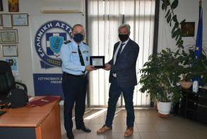 Απονομή τιμητικής πλακέτας στον απερχόμενο Διευθυντή της Διεύθυνσης Αστυνομίας Ημαθίας, Διονύση Κούγκα