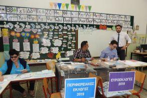 Συνεχίζεται η τετραπλή ψηφοφορία στα εκλογικά τμήματα της Βέροιας