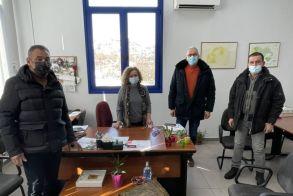 Συνάντηση της Προϊσταμένης του ΕΛΓΑ Βέροιας με τον Αντιδήμαρχο Αγροτικής Ανάπτυξης και τον Αγροτικό Σύλλογο Βέροιας