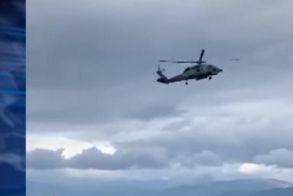 Τρόμος με ελικόπτερο στο Αίγιο - Το παρέσυρε ο αέρας!
