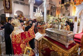 Στον Πολιούχο της Θεσσαλονίκης ο Μητροπολίτης Βεροίας για την Ακολουθία του Επιταφίου του Αγίου Μεγαλομάρτυρος Δημητρίου