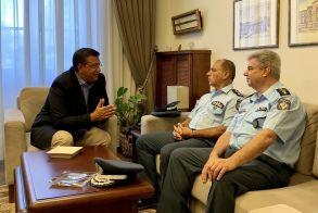 Συνάντηση του Περιφερειάρχη Κεντρικής Μακεδονίας Απόστολου Τζιτζικώστα με τους επικεφαλής της Ελληνικής Αστυνομίας στη Β. Ελλάδα και τη Θεσσαλονίκη