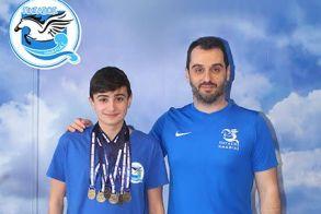 7 χρυσά μετάλλια σε 7 αγωνίσματα ο Πασίδης Χαράλαμπος του Πήγασου Ημαθίας.