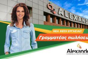 ΕΡΓΑΣΙΑ - Ζητείται γραμματέας πωλήσεων από την ΑΛΕΞΑΝΤΕΡ Α.Ε.