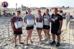 Τέσσερα μετάλλια για τον Ημαθίωνα της Αλεξάνδρειας στο Πανελλήνιο πρωτάθλημα πάλης στην άμμο. Πρώτη η Στεφανίδου στις παγκορασίδες .