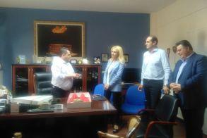 Επίσκεψη των Υφυπουργών Φ. Αραμπατζή και  Απ. Βεσυρόπουλου στον Αντιπεριφερειάρχη μετά τα ακραία καιρικά φαινόμενα