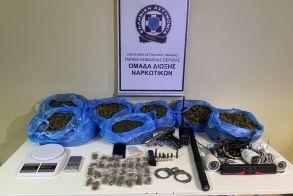 Από το Τμήμα Ασφάλειας Βέροιας συνελήφθη ημεδαπός για διακίνηση ναρκωτικών και παράνομη οπλοκατοχή