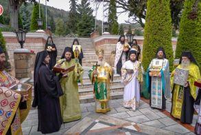 Ιερά Λιτανεία στην Ι. Μ. Παναγίας Δοβρά Βεροίας υπέρ καταπαύσεως της πανδημίας (Βίντεο)