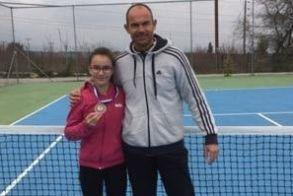 3η  θέση για την Ανθή Μανωλοπούλου του Ομίλου Αντισφαίρισης Αλέξανδρος Βέροιας