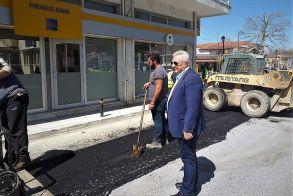 Επίσκεψη του Δημάρχου Π. Γκυρίνη στη Μελίκη - Ενημερώθηκε για την πρόοδο του έργου κατασκευής Αποχετευτικού Δικτύου