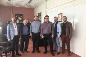 Επίσκεψη του υποψήφιου περιφερειάρχη,  Χρήστου Παπαστεργίου στην  περιφερειακή ενότητα Ημαθίας