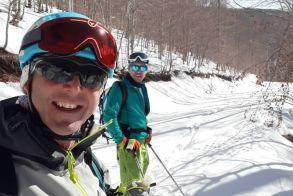 Δύο Ναουσαίοι στην εκδήλωση για το ορειβατικό Ski στον Βαρνούντα