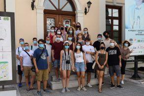 Εκπρόσωποι της ομάδα νέων Kiriotissa's YOut(H)opia στον Δήμαρχο Βέροιας