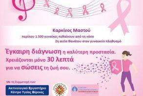Ακτινολογικό εργαστήριο Κέντρου Υγείας Βέροιας: Επιπλέον μαστογραφίες θα διενεργηθούν την Πέμπτη 24 και Παρασκευή 25 Οκτωβρίου
