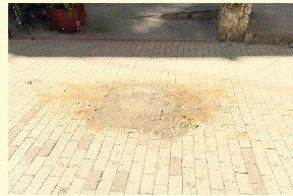 Αφαιρέθηκε άμεσα η σπασμένη ζαρντινιέρα στην είσοδο του πεζοδρόμου