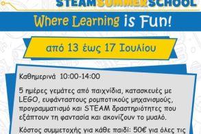 STEAM SUMMER SCHOOL από το κέντρο Τεχνολογίας και Ρομποτικής της ΔΙΚΤΥΩΣΗΣ