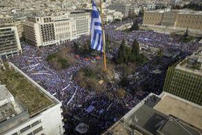 Ενωτική και ιστορική η ομιλία του Μίκη Θεοδωράκη στο συλλαλητήριο της Αθήνας για τη Μακεδονία