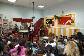 Η Ελισάβετ Τάρη στο Δημοτικό σχολείο Κουλούρας -